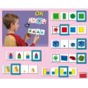 24 Fichas autocorrectoras: color, forma y tamaño JUEGOS de CLASIFICACIÓN