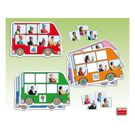 Autobús busca y completa Atención