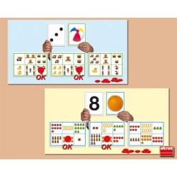 Bingo: descubrir del 1 al 10 ALFABETOS, NUMEROS y LETRAS