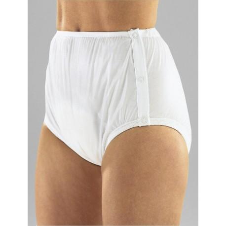 Slip súper protector incontinencia cierre concorchetes Protectores incontinencia compresas