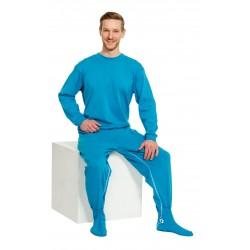Pijama para no desvestirse con patucos PIJAMAS una sola pieza
