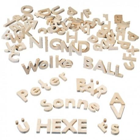 Alfabeto de madera ALFABETOS, NUMEROS y LETRAS