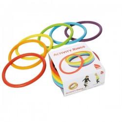 Anillos de actividades Aros, conos y cuerdas