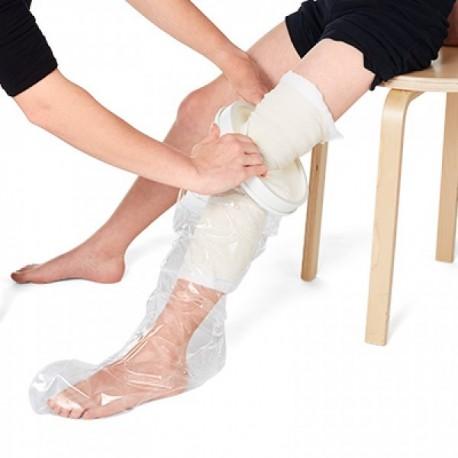 Protector impermeable pierna entera niños para ducha o baño Protectores vendajes y escayolas