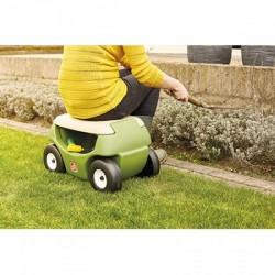 Asiento de jardín con ruedas