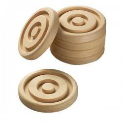 Discos de madera para conos Aros, conos y cuerdas