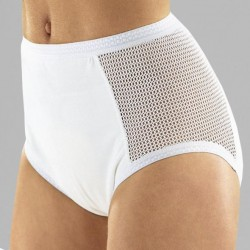 Braga protectora compresa incontinencia con malla lateral Protectores incontinencia compresas