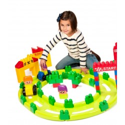 Set Track 2. Blocks Súper 61 pcs CONSTRUCCIONES