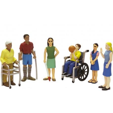 Figuras Discapacidades/Estuche JUEGOS DE LENGUAJE
