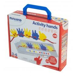 Activity Hands 36 pcs Maleta ALFABETOS, NUMEROS y LETRAS