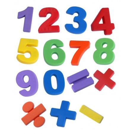 Números JUMBO magnéticos 68 pcs/Bote con Asa ALFABETOS, NUMEROS y LETRAS