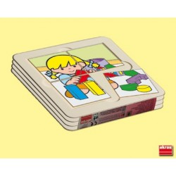 Pack 4 puzles bandeja Zaro Y Nita 6,5cms PUZLES