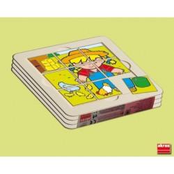 Pack 4 puzles Bandeja Zaro Y Nita 4,3cm PUZLES