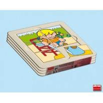 4 puzles Zaro Y Nita 6 piezas PUZLES