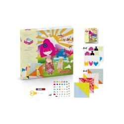 Alpino Craft Art Mini Kid MUÑECAS JAPONESAS CON ORIGAMI MANUALIDADES