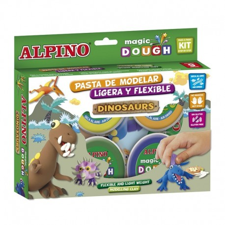Magic Dough Alpino, kit dinosaurios MANUALIDADES