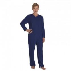 Pijama incontinencia algodón doble apertura manga larga PIJAMAS una sola pieza
