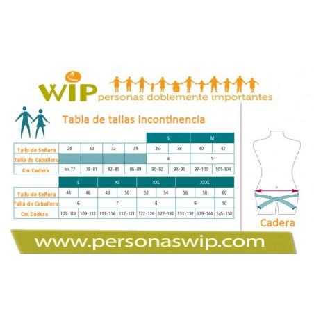 Slip incontinencia con absorbente reutilizable Slips y boxers incontinencia reutilizables