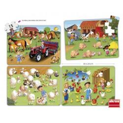 Set puzles cooperativos la granja