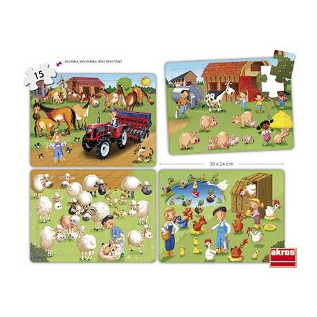 Set puzles cooperativos la granja PUZLES
