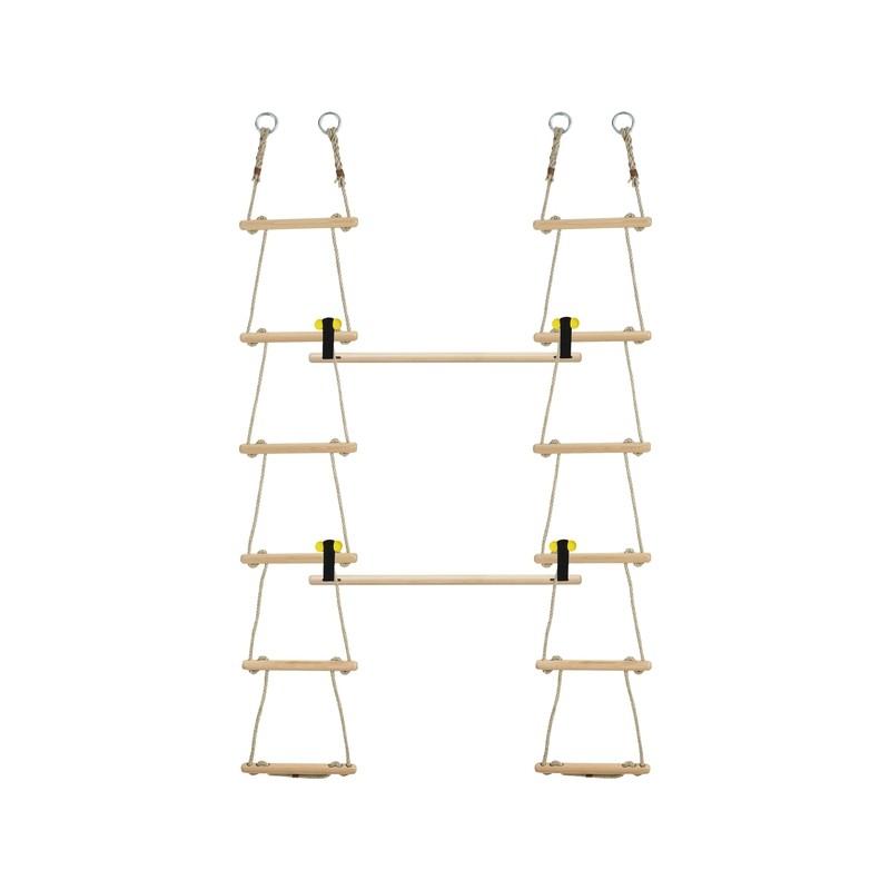 Escalera de cuerda aros conos y cuerdas - Escaleras de cuerda ...