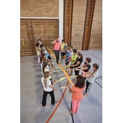 Cuerda de equilibrio Juegos grupales y colaborativos