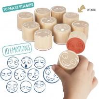 Maxi sellos de las 10 emociones JUEGOS DE LENGUAJE