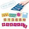 Tacto fichas de letras y signos de puntuación
