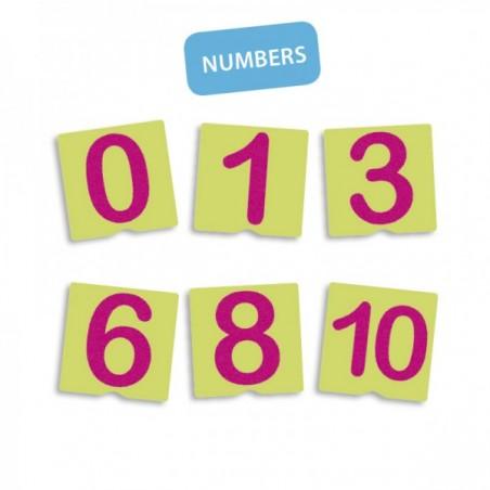 Tacto fichas de letras y signos de puntuación ALFABETOS, NUMEROS y LETRAS