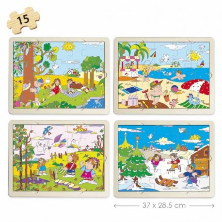Set puzles Las 4 Estaciones  PUZLES
