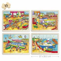 Set puzles transportes PUZLES