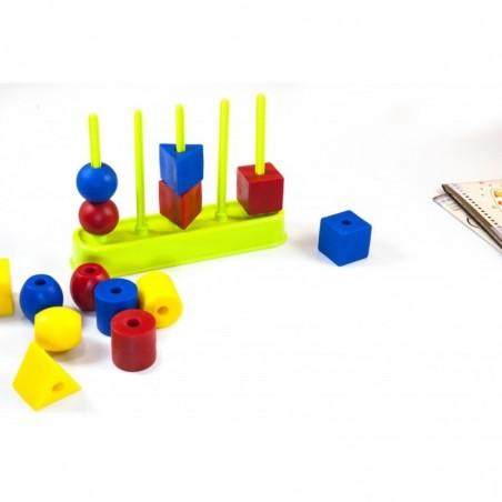 Abacolor Maxi. (formas ensartables 35 mm). Maletín ABACOS y REGLETAS