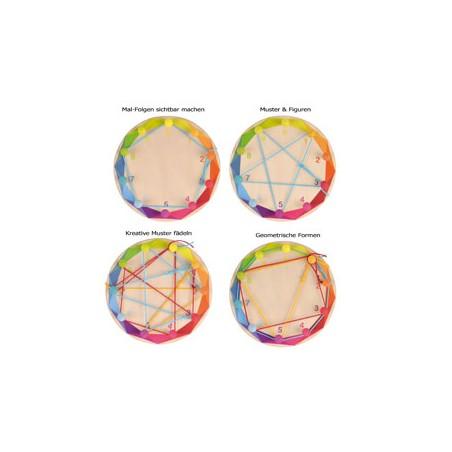 Círculo de tejer colorido JUEGOS de CLASIFICACIÓN