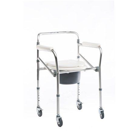 Silla inodoro de aluminio con ruedas Baño y ducha