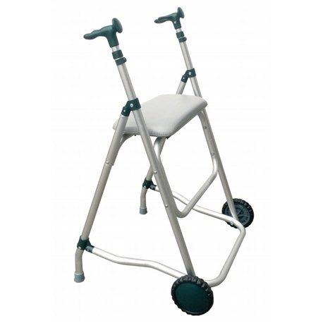 Andador de aluminio con asiento Andadores