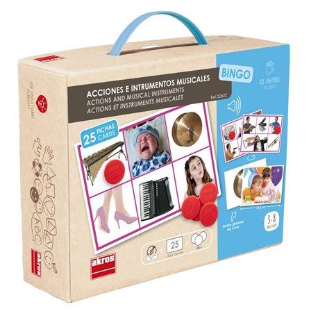 Bingo: Acciones e instrumentos musicales Percepción y Gnosias