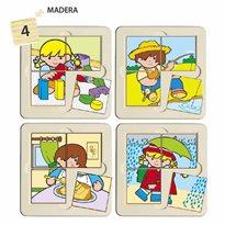 4 puzles Zaro Y Nita 4 piezas PUZLES
