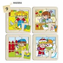 4 puzles Zaro Y Nita 9 piezas PUZLES
