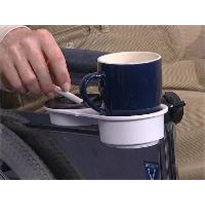 Portavasos para silla de ruedas con bandeja DUO Accesorios silla de ruedas