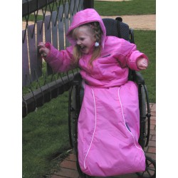 Cobertor de piernas impermeable rosa MODA INCLUSIVA
