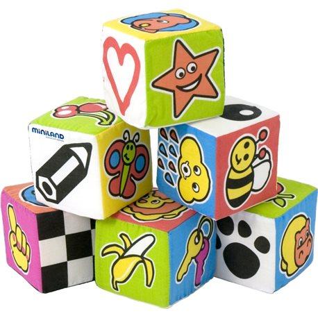 Set 6 cubos/bolsa Apilables