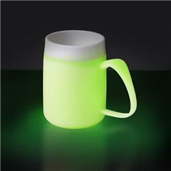 Taza térmica fluorescente