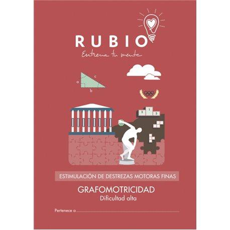 Grafomotricidad dificultad alta - cuadernillo adulto Rubio Destrezas motoras finas