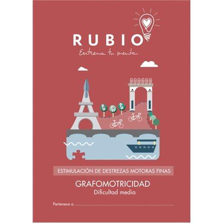 Grafomotricidad dificultad media - cuadernillo adulto Rubio Destrezas motoras finas