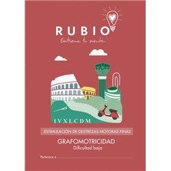 Grafomotricidad dificultad baja - cuadernillo adulto Rubio Destrezas motoras finas