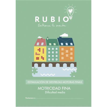 Motricidad fina dificultad media - cuadernillo adulto Rubio Destrezas motoras finas