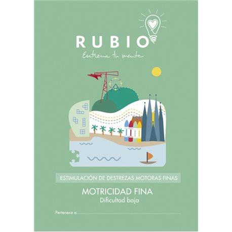 Motricidad fina dificultad baja - cuadernillo adulto Rubio Destrezas motoras finas