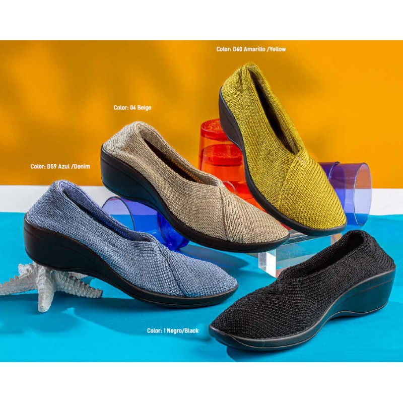 Manoletinas Señora Arcopedico 1701 Mailu Zapatos cuña