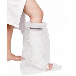 Protector impermeable media pierna para ducha o baño