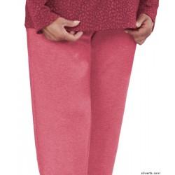 Pantalones apertura trasera en poliester y algodón.